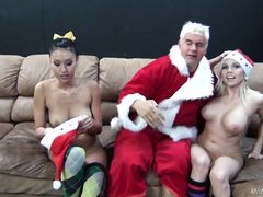 santa only needs one more ho to complete the laugh