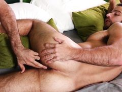 sexy hunk gets his flawless ass drilled hard