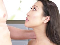 hot asian needs white cock all the way in her snatch