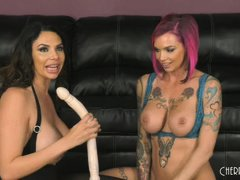 horny brunette having fun with anna bell peaks