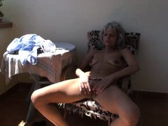 Even after menopause, this matured woman still feels horny every now and then. Since she is always a