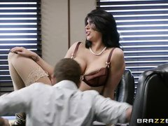 romi was banged hard in the office