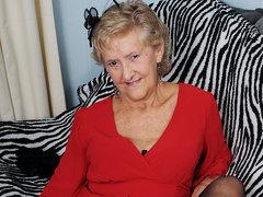 British Granny Showing Off Her Goods - MatureNL