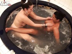 german lesbian amateurs in the bathtub