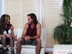 nina dolci gave blowjob to her son's friend