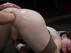 experienced tranny trying anal fisting