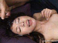 exotic lady fucked and facialed