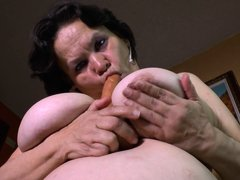 The camera catches some nice intimate close ups of a mature lady, who loves to play dirty alone. The
