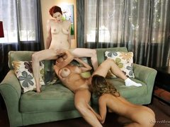 three lesbians play with each other @ the candidate