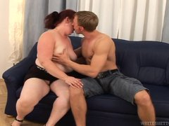 Chubby, old and with a huge crave for cock, granny Jana shows us all, how she likes to fuck. This fi