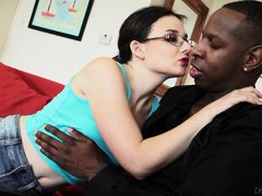 Amy's mom got divorced a long time ago and just got remarried. Her new stepdad makes her panties wet