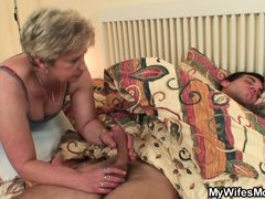 While I was in the bed, taking a deep, relaxing nap, lady Dagmar sucked my cock. She slowly pulled d