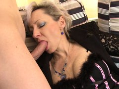 Mature slut Jaroslava always looks for a chance to get some action from a young cock. She finds her