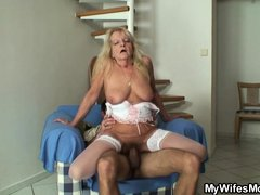 Me and my wifes mom Debi are mad after each other. I fuck her more than I fuck my wife! Here we were