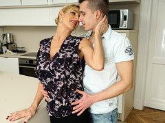 Horny Mature Slut Sucking And Fucking Her Toy Boy - MatureNL