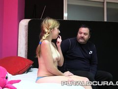 Busty amateur teen latina picked up in Madrid streets and bangs her pussy hard.