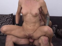 Tonya felt horny after seeing my hard cock and started sucking it. I am eager to enter her pussy and