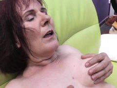 Mature Isia has a big roomy vagina, hairy too. I like drilling this whore from behind and fill her p