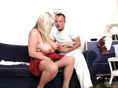 big boobs make wonders @ grannies wet panties