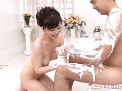 mature japanese in the intimacy with her lover