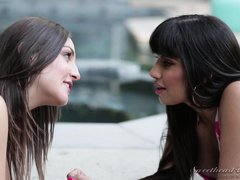 hottie licks her lover's butthole @ lesbian analingus #10