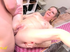 50 Year Old Milf Gets Anal Pounding From Her Toyboy Masseur