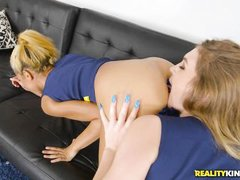 sexy lesbians cheerleaders play with their cunts