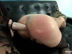 Simone Sonay is a busty mature craving for some cock. In lack of a big penis that she needs, she cal