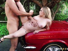 aiden is fucked on the hood of the car