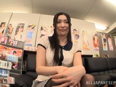 This Japanese teacher has found out one of her student's fathers runs a modelling agency. She goes o