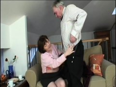 Old fart Richie and his grandma Ivana are up to no good again. Watch them as Richie begins to lick h