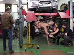public disgrace in a garage