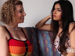 Sara Jay is making love with Aida Cortez, while they are alone at home and horny