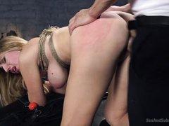 nude blonde babe gets banged hard