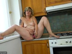 she's warming up her own oven for you