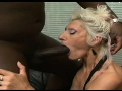 Horny Gilf Claudia masturbates by inserting a big dildo in her old but still hot vagina. This old bl