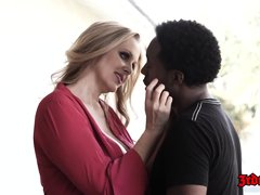 Julia Ann is a seductive blonde milf who seems to like to have interracial sex