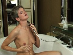 Carla loves to fuck and when she can't get young men to shove dicks in her pussy, she goes solo. Wat