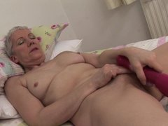 Fleur is a sexy granny with her nice body and small boobs. Here she has gone hornier than ever and t