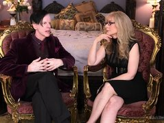 Famous pornstar Nina Hartley sits down with her man and discusses all her kinks and the hot things s