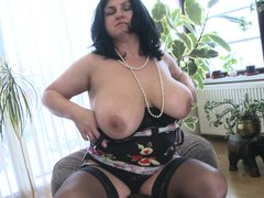 This chubby mature is going insane and definitely in need of some masturbation. So with out wasting