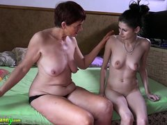 Henrietta will teach her unexperienced lover some lesbian tricks and this time, it will be with stra