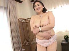 Hayama Nobuko endures cock deep in her mature cunt