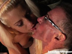 It appears that slutty Anastaisa enjoys the company of older experienced men, as she is eager to spe