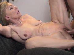 Horny Blonde Granny Is Having Amazing Sex With A Younger Guy, In The Middle Of The Day
