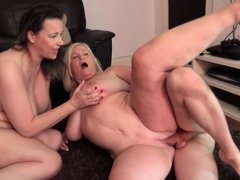 Eva Jayne And Lacey Starr Are Having A Ffm Threesome With A Younger Guy And Enjoying It