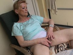 When granny Marie sits on her armchair she likes to relax and nothing relaxes her better then a good