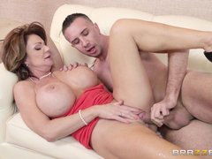 She's busty mature and has some class! Lady Deauxma knows, what she wants and Keiran Lee is precisel