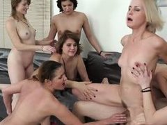 one hard dick for six horny cougars