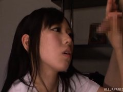 Shiori is still not old enough to fuck but she does not give a damn about the rules. The first thing